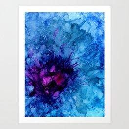 Amethyst Freeze Art Print