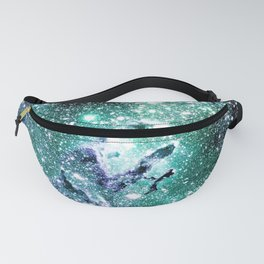 Eagle Nebula Blue Teal Green Fanny Pack