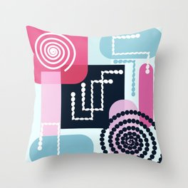 Abstract mechanism II Throw Pillow
