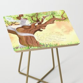 The concentrated Lady of the Oak Side Table