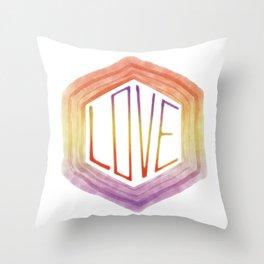 Love - Rainbow Throw Pillow