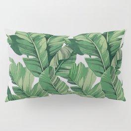 Tropical banana leaves V Pillow Sham