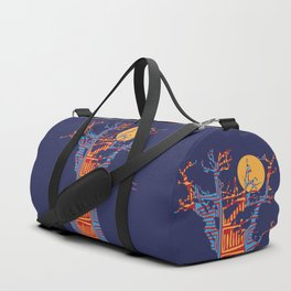 African Baobab tree of life at Sunset Duffle Bag