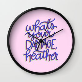 What's Your Damage? Wall Clock