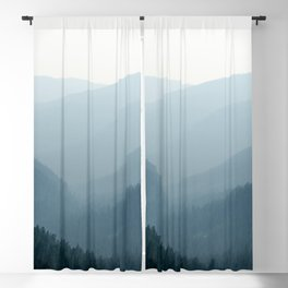 Mount Rainier Summer Adventure IV - Pacific Northwest Mountain Landscape Blackout Curtain
