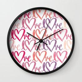 Love pattern Wall Clock