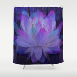 The Lotus in blue... Shower Curtain