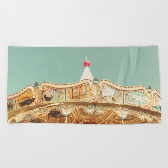 Carousel Lights Beach Towel