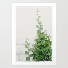 By the wall Art Print