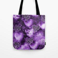 Light Bulb Hearts Series (purple) Tote Bag