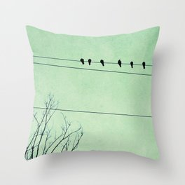 Birds on a Wire, no. 7 Throw Pillow