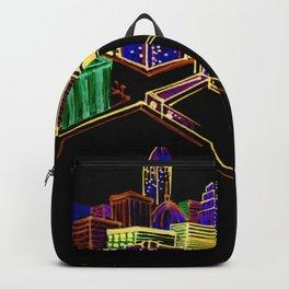 Vibrant city Backpack