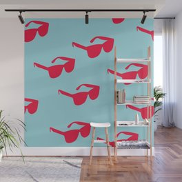 Killin' It - Sunglasses Red And Blue Palette Wall Mural