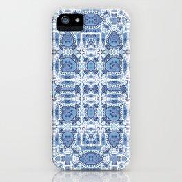 Indigo Block Print Effect iPhone Case