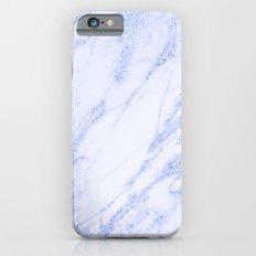 Blue Marble - Shimmery Glittery Cornflower Sky Blue Marble Metallic iPhone 6s Slim Case