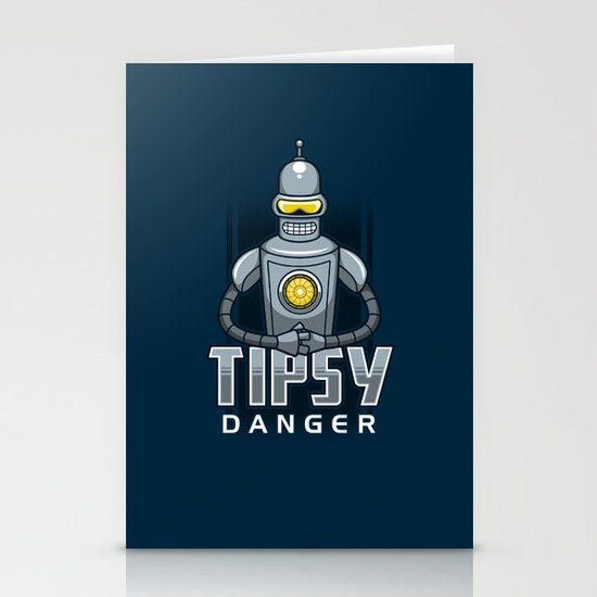 Tipsy Danger Stationery Cards
