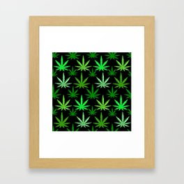 Marijuana Green Weed Framed Art Print