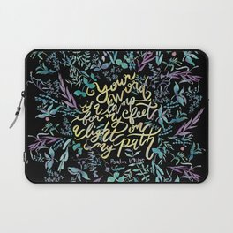Your Word is a Lamp - Psalm 119:105 Laptop Sleeve