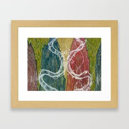 The Mutual Appreciation Paradox (Resistance of Magnetic Entanglement) Framed Art Print