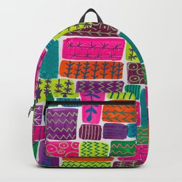 Patchwork Pattern Backpack