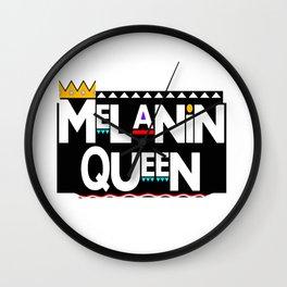 Melanin Queen Wall Clock