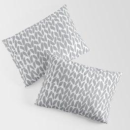 Hand Knit Zoom Grey Pillow Sham