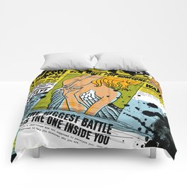 The biggest Battle is the one inside you (Color) Comforters