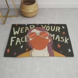 Wear Your Face Mask Rug