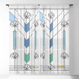 Waterlilies and Ennis Sheer Curtain