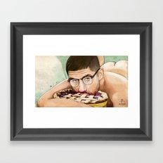 The Pie Eater Framed Art Print