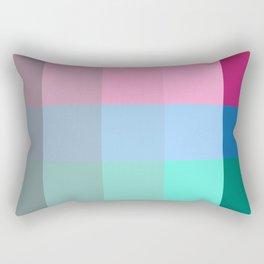 Colorful Pixel Patchwork Rectangular Pillow