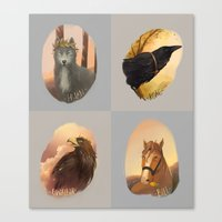 middle earth Canvas Prints featuring animals of Middle earth by megatruh