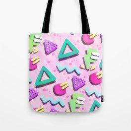Pastel Pink 80s Print Pattern Tote Bag