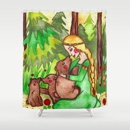 Mielikki and the bears Shower Curtain