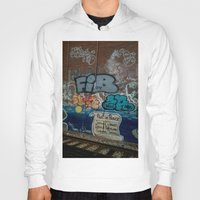 grafitti Hoodies featuring Grafitti Art by Lisa De Rosa-Essence of Life Photography