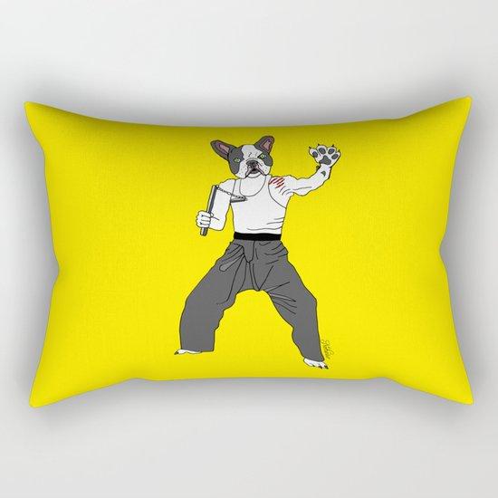 Kungfu Bulldog Lee Rectangular Pillow