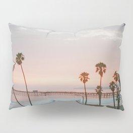 palm trees sunset vi / san clemente, california Pillow Sham