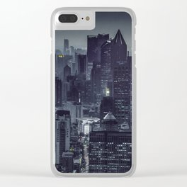 Aerial View Night Scene Shanghai, China Clear iPhone Case