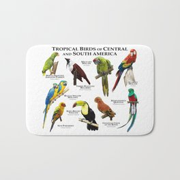 Tropical Birds of South and Central America Bath Mat