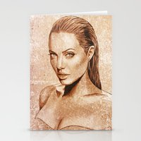 angelina jolie Stationery Cards featuring Angelina Jolie by Renato Cunha