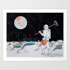 Crater Crop Art Print