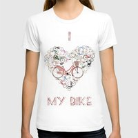 brompton T-shirts featuring I Love My Bike by Wyatt Design
