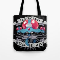 gangster Tote Bags featuring Gangster by Greg Wright