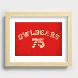 Go Owlbears! Recessed Framed Print