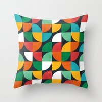 pie Throw Pillows featuring Pie in the sky by Picomodi