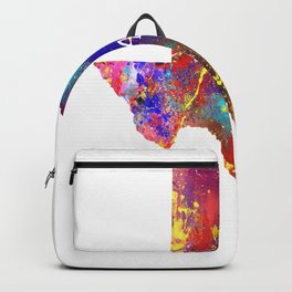 Austin Heart On Map Texas State Watercolor Design Backpack