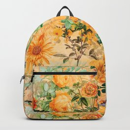 Vintage & Shabby Chic -  Sunny Gold Botanical Flowers Summer Day Backpack