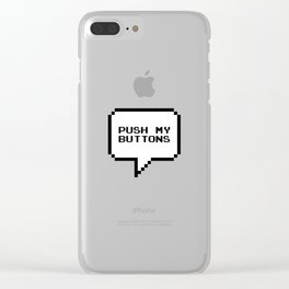 Push my buttons Clear iPhone Case