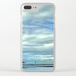 A Rig Passing (Digital Art) Clear iPhone Case