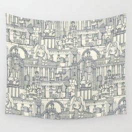 Ancient Greece indigo pearl Wall Tapestry